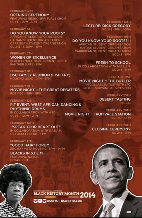 BHM Events flyer
